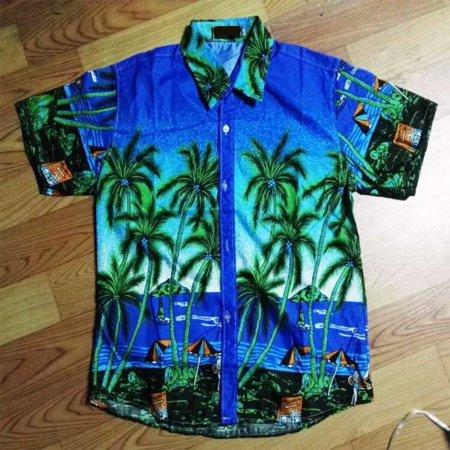 Unisex Lovers Beach Shirt Hawaiian Scenery Casual Couple Tops 11# XL - image 1 of 5