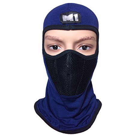 M1 Full Face Cover Balaclava Protecting Filter Face Mask Blue (BALA-BLUE-FILT) - image 1 of 1