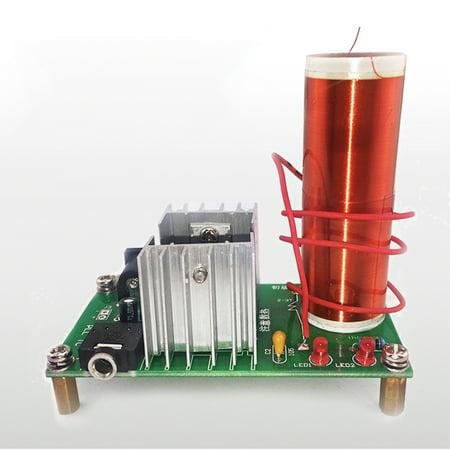 Tesla Coil Set Mini Music Plasma Horn Speaker DIY Electronic Component Parts - Diy Maleficent Horns