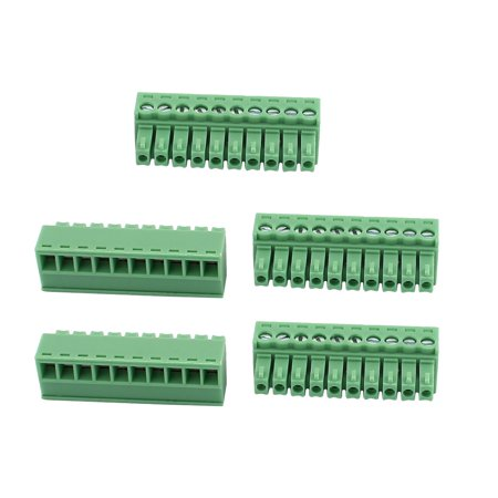 5Pcs 300V KF2EDGK 3 55mm Pitch 10-Pin PCB Screw Terminal Block