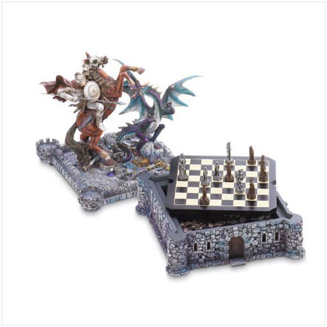 SWM 37128 Dragon and Knight Chess Set