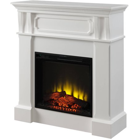 Prokonian Electric Fireplace With 40 Mantel Spb14006c White