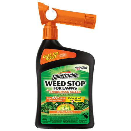 Spectracide Weed Stop For Lawns Plus Crabgrass Killer Concentrate, Ready-to-Spray, 32-fl (Best All Purpose Weed Killer)