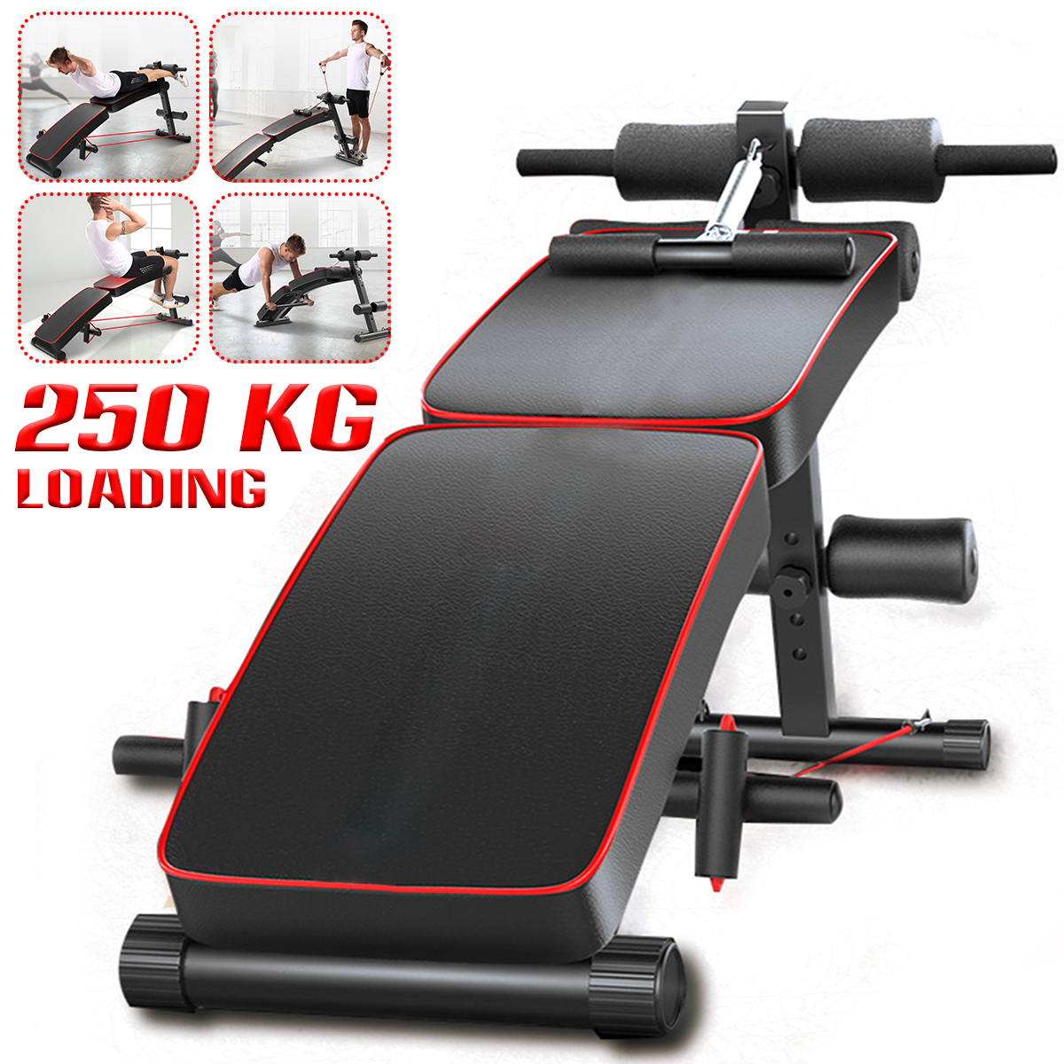 Details about  /Folding Adjustable Sit Up Abdominal Bench Press Weight Gym Ab Exercise Fitness