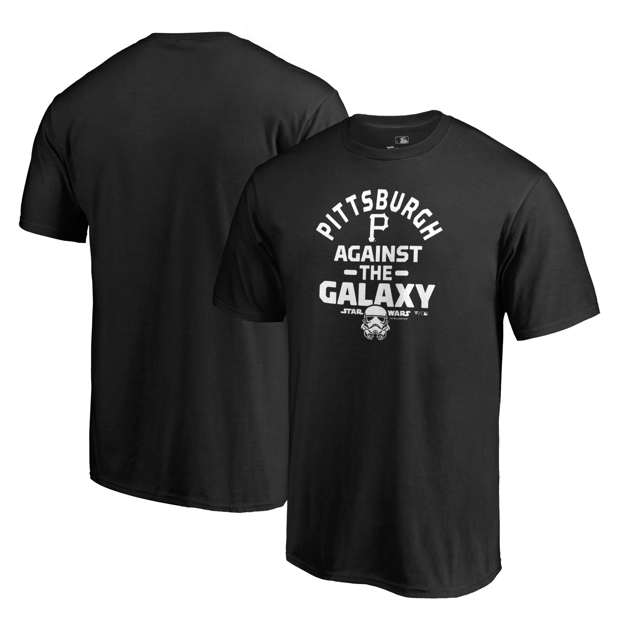 Pittsburgh Pirates Fanatics Branded MLB Star Wars Against The Galaxy T-Shirt - Black