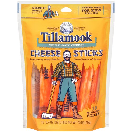 Tillamook Colby Jack Cheese Sticks, .75 oz, 10 ct