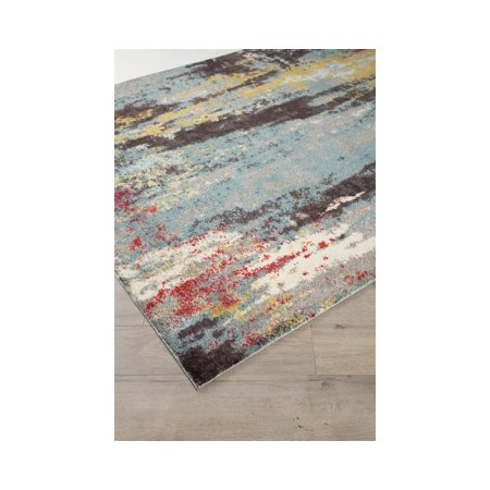 Signature Rectangular Rug (Signature Design by Ashley Quent Blue/Gray/Yellow 8' x 10' Rug)