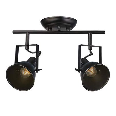 LNC Semi Flush Mount Adjustable Track Lighting 2-light Ceiling Light