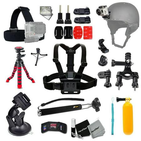 - Xtech® BIKE / BIKING and Motorcycle Riding Accessories Kit for GoPro HERO+, HERO5, Hero4, Hero3 & Hero2 for Bike riding, Cycling, Racing, Dirt Track Racing, Motorcycling,  Rallying, Uni-Cycling & more