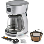 Mr. Coffee Easy Measure 12 Cup Programmable Coffee Maker with Gold Tone Reusable Coffee Filter