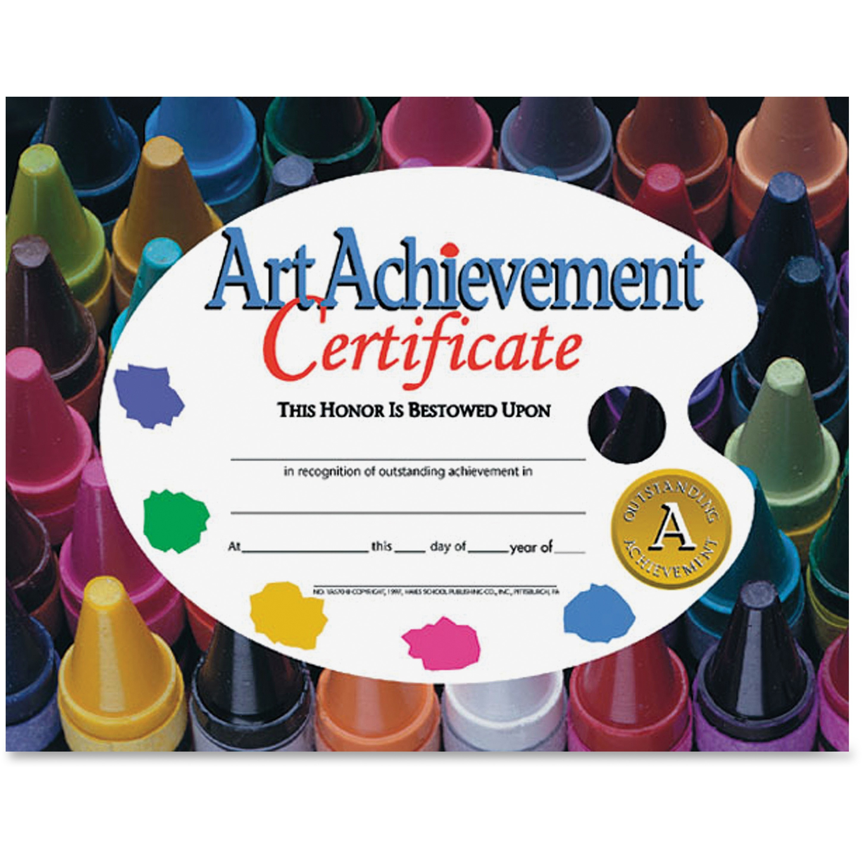 Flipside, FLPVA570, Art Achievement Certificate, 30 / Pack, Assorted