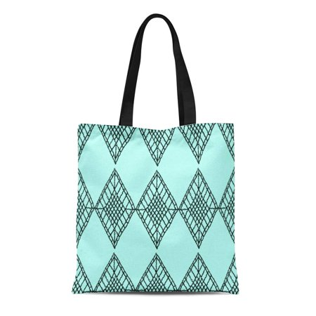 SIDONKU Canvas Bag Resuable Tote Grocery Shopping Bags Floral Knitted Woven Macrame in Boho Oriental Pattern Bohemian Knitting Crochet Tote (Macrame Bag Pattern)