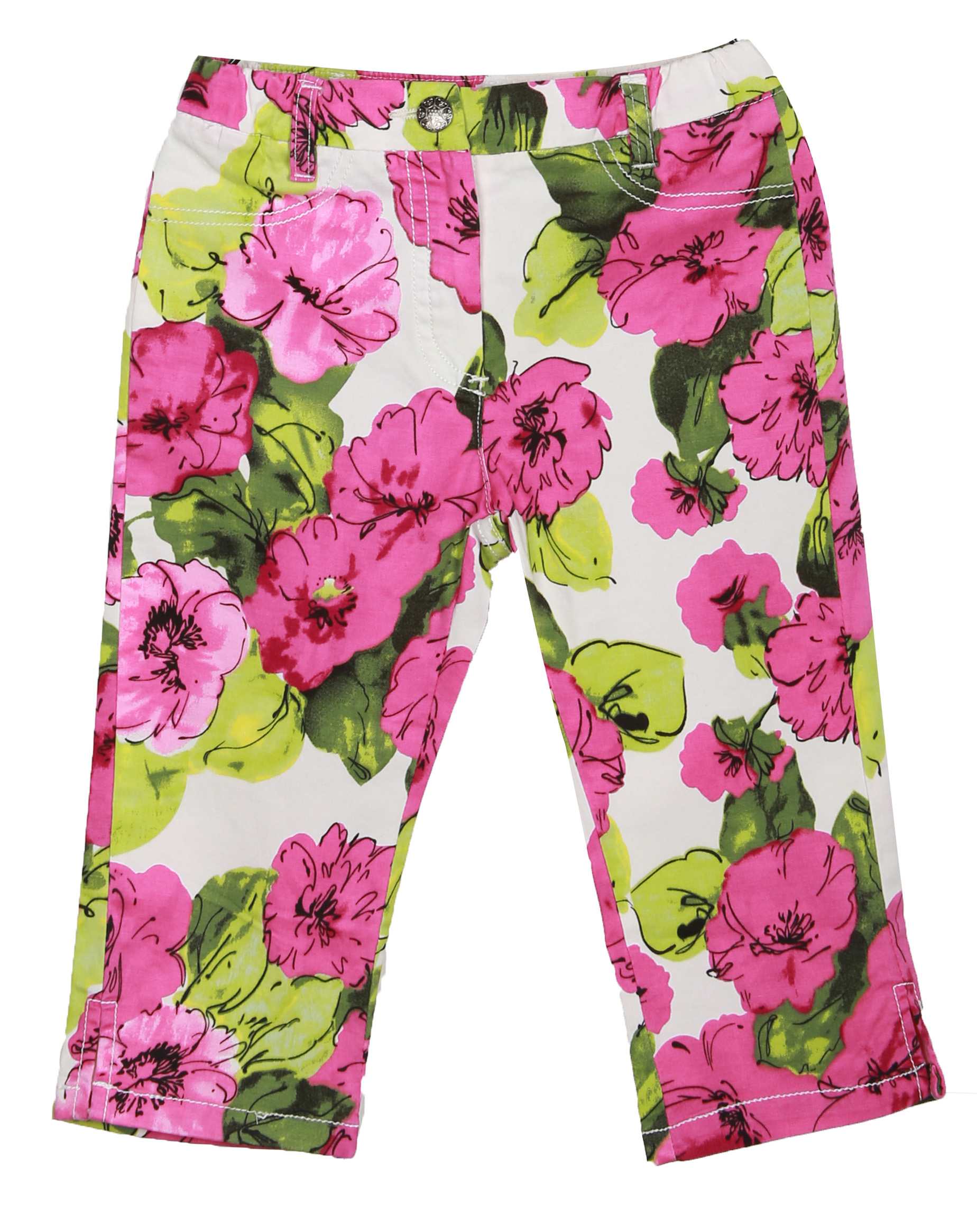 richie house little girls green pink bright floral pants 2