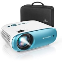 VANKYO Cinemango 100 Mini Video Projector, 3800 Lux HD Movie Projector Support 1080P, 220? Display, 50,000 Hrs Lamp Life, Compatible with TV Stick, HDMIx2, USBx2, VGA, TF, AV for Home Entertainment