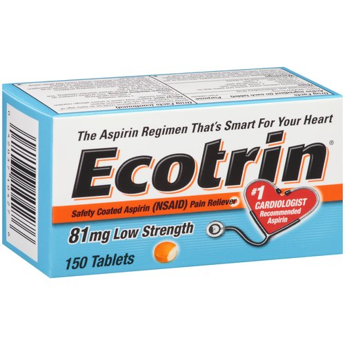 Ecotrin Safety Coated Aspirin Tablets Low Strength - 150 CT