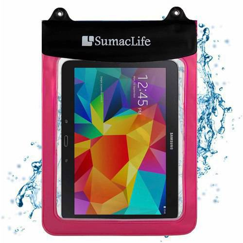 SUMACLIFE Waterproof Triple Zip Clear Case Carrying Bag (with Lanyard) for Tablets up to 12in x 9.25in