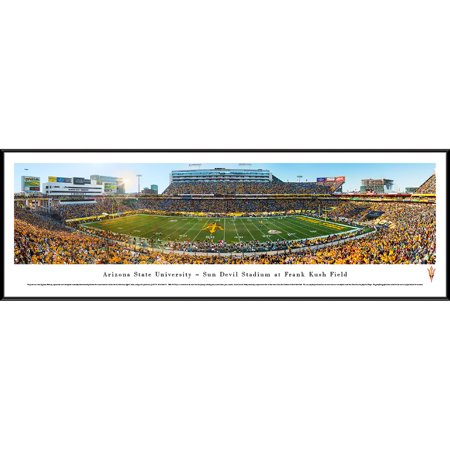 Arizona State Football - 50 Yard Line in Sun Devils Stadium - Blakeway Panoramas NCAA College Print with Standard Frame