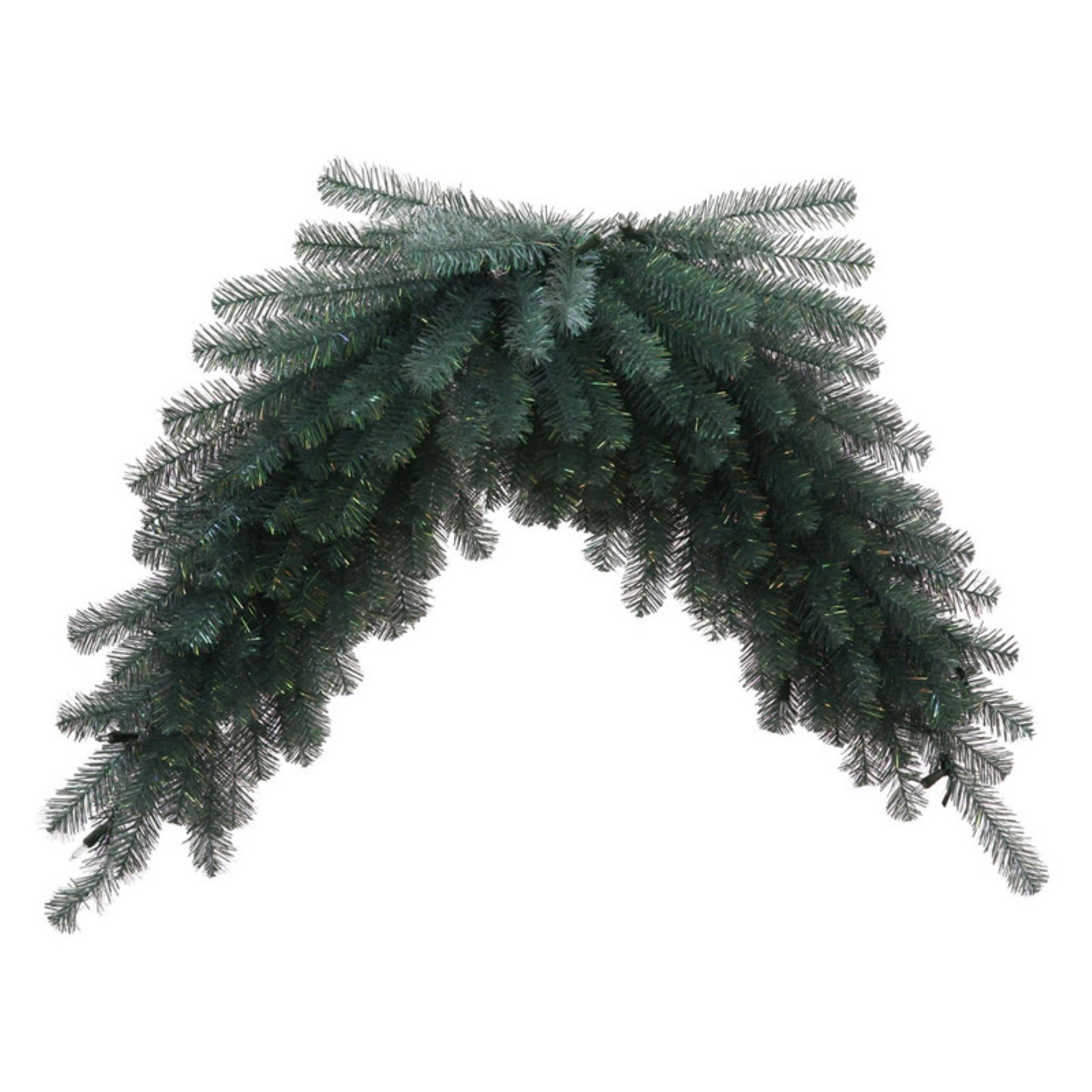 Vickerman Unlit 4' Blue Crystal Swag featuring 188 PVC Tips