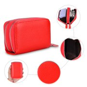 Njjex RFID Blocking Leather Wallet for Women, Excellent Women's Genuine Leather Credit Card Holder