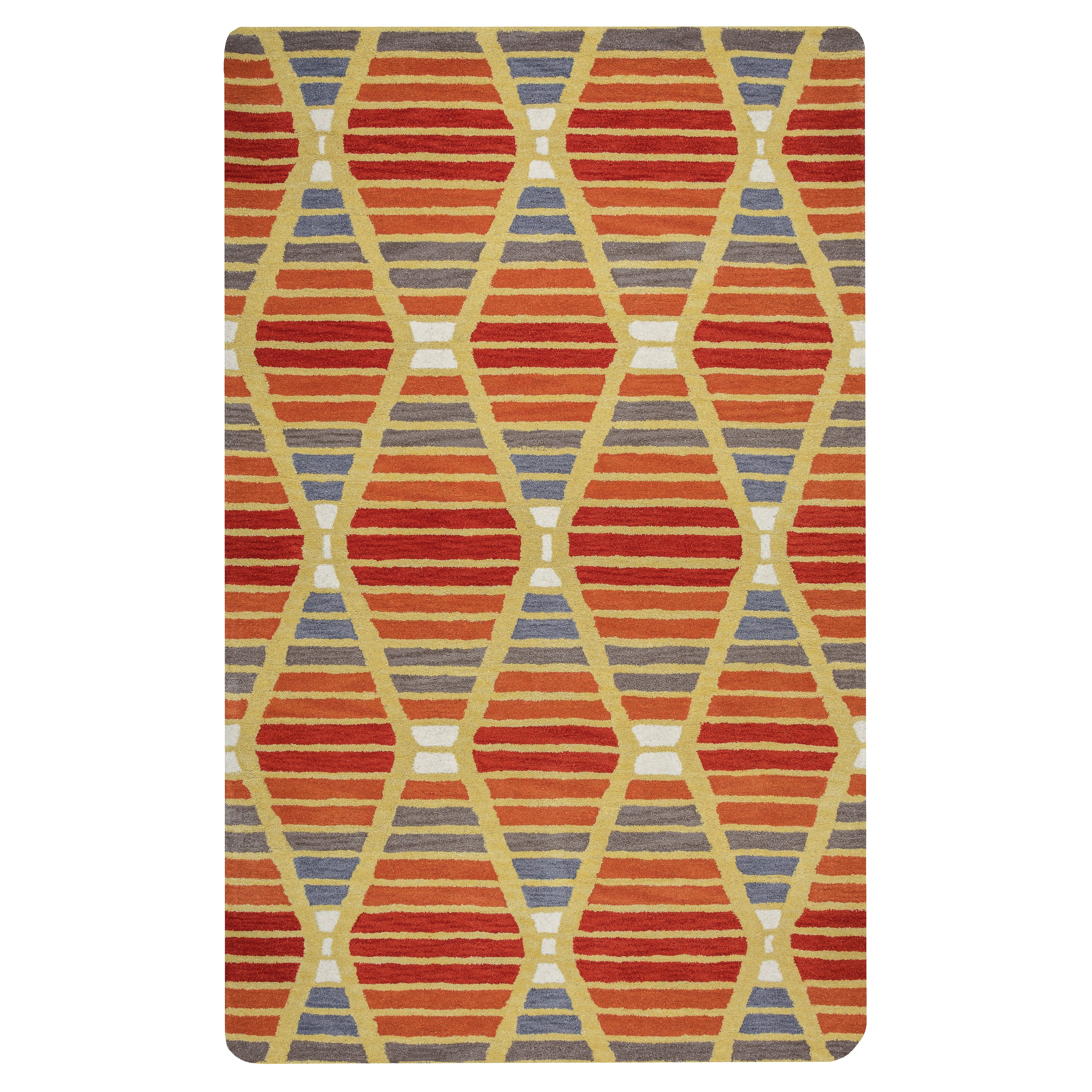 Rizzy Home Marianna Fields Hand-Tufted Area Rug 9 Ft. X 12 Ft. Multicolored Model MARMF952060330912