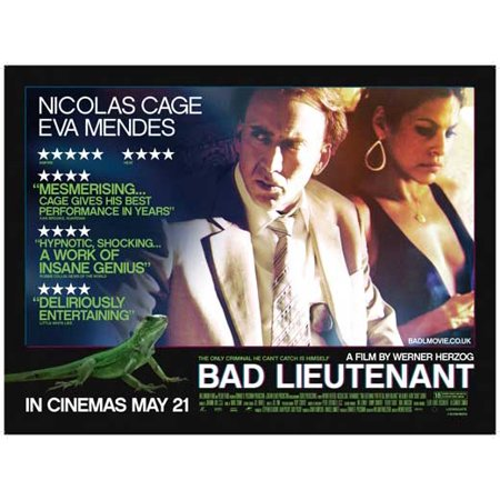 The Bad Lieutenant: Port of Call New Orleans (2009) 11x17 Movie Poster (UK)