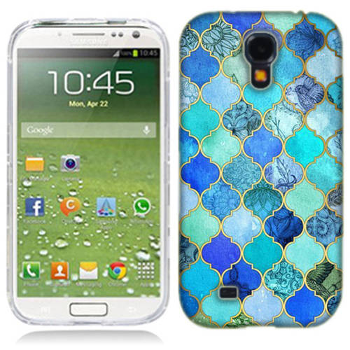 Mundaze Blue Stone Tiles Phone Case Cover for Samsung Galaxy S4