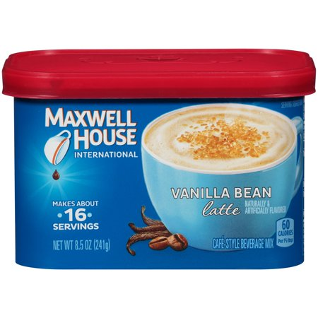 (4 Pack) Maxwell House International Vanilla Bean Latte, 8.5 oz Canister