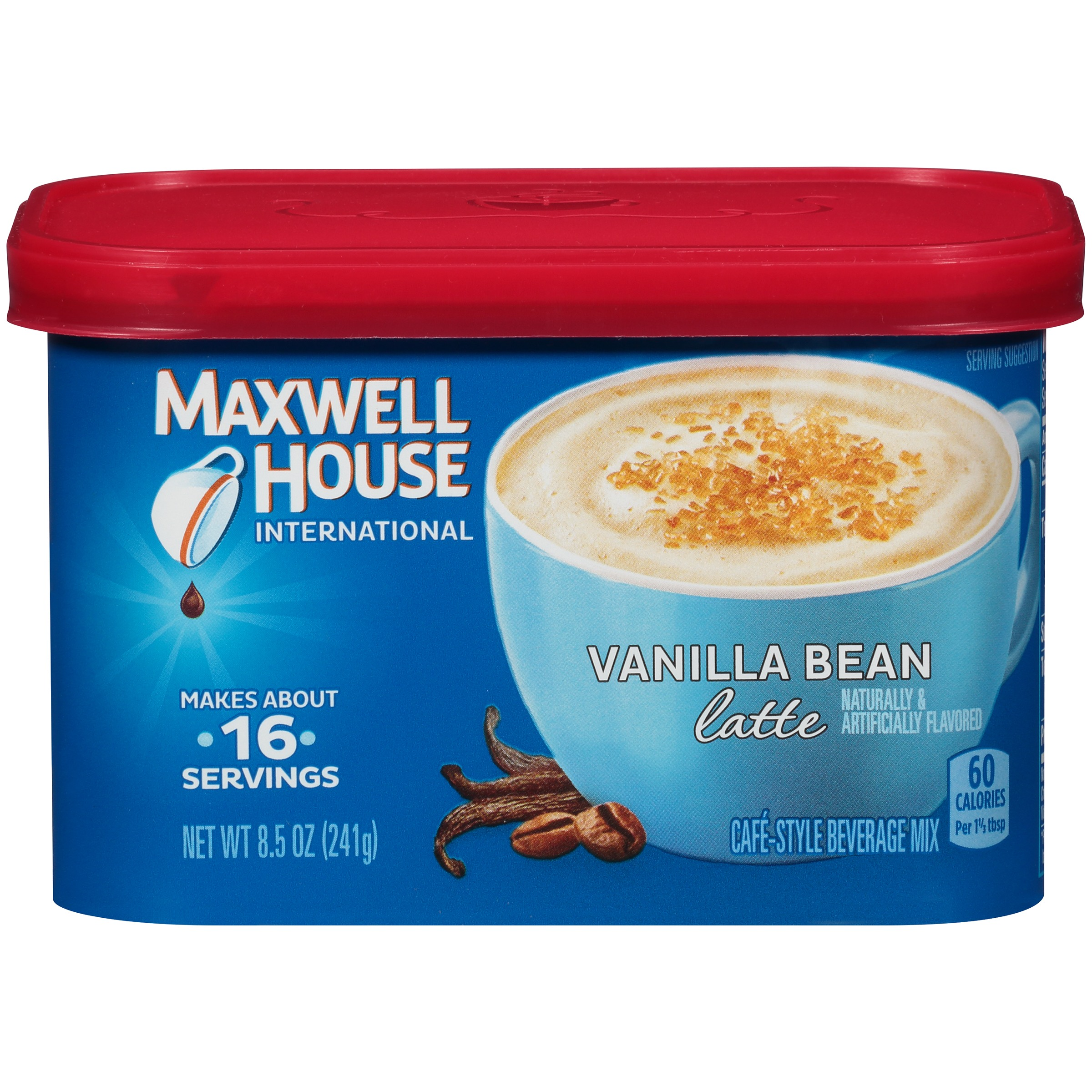 Maxwell House International Vanilla Bean Latte Café-Style Beverage Mix 8.5 oz. Tub