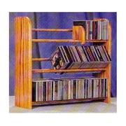 3 Row Dowel CD Rack (Honey Oak)