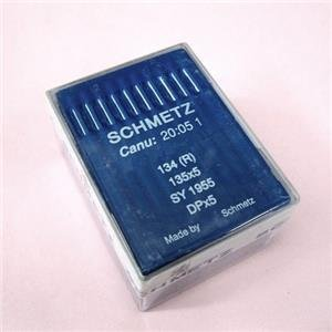 100 Schmetz 134(R) 135X5 DPX5 CANU:20:05 1 Industrial Sewing Machine Needles -Size 25 (metric 200)