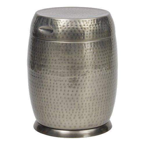 "Bombay Outdoors Silver Madras Drum Side Table, 15""L x 15""W x 19.25""H"