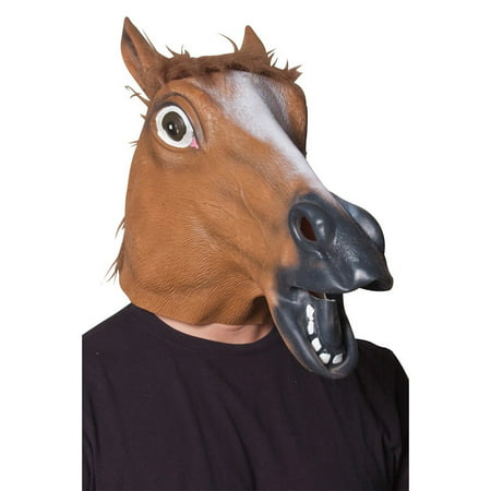 Horse Head Mask Halloween Costume Accessory](Goat Head Mask)