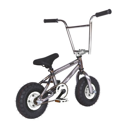 """Kobe """"Rusty Rat Rod"""" Mini BMX - Off-Road to Skate Park, Freestyle, Trick, Stunt Bicycle 10"""" Wheels for Adults and Kids - White - image 5 de 12"""
