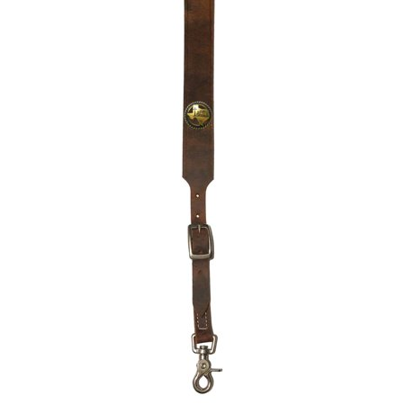 Custom Antique Brass Praying Cowboy Church Leather suspenders in Bay Apache Brown. Made in the USA (Custom Suspenders)