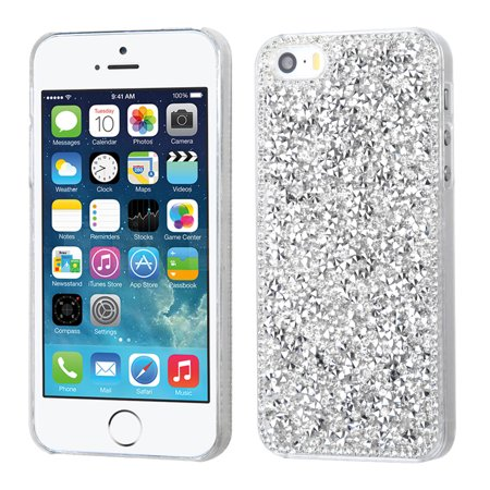 Desire Bling Bling Crystal Cover for iPhone SE / 5S / 5 - Rhinestones Silver ()