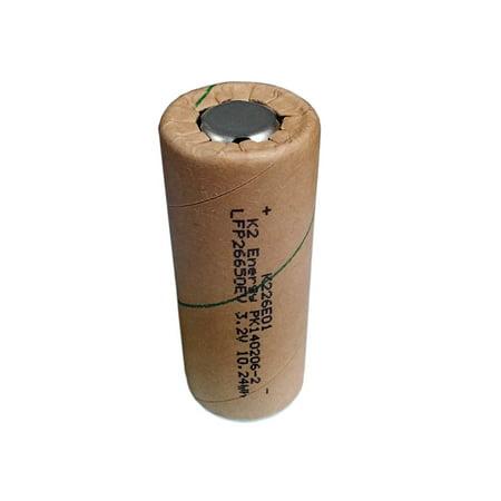 K2 Energy Lfp26650ev 3 2V 3 2Ah Lifepo4 High Capacity Rechargeable Battery
