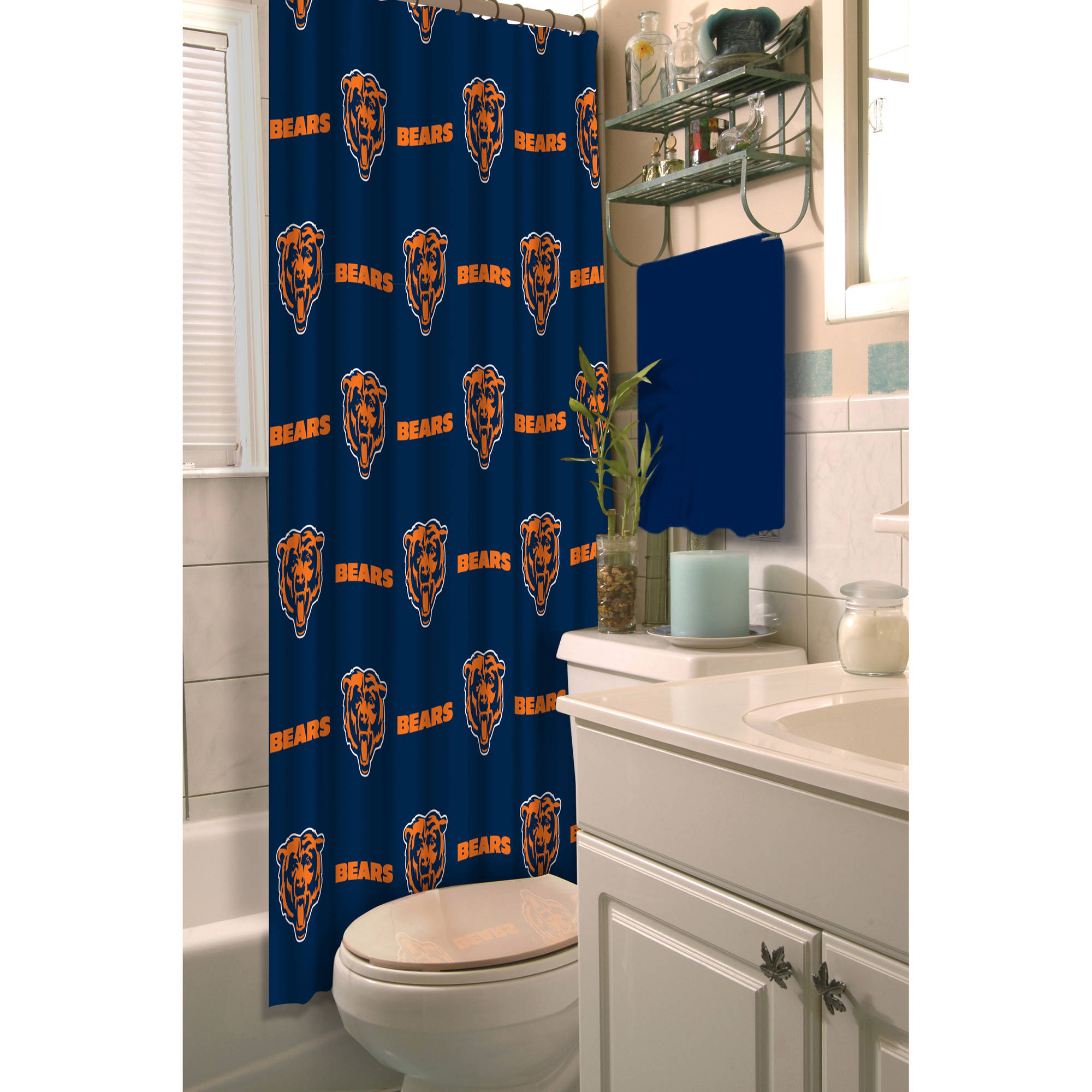 NFL Chicago Bears Decorative Bath Collection Shower Curtain