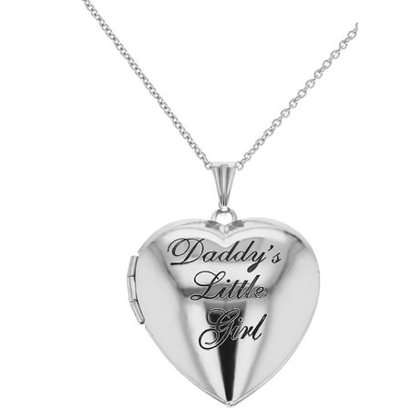 In Season Jewelry Photo Locket Girls Heart Pendant Necklace