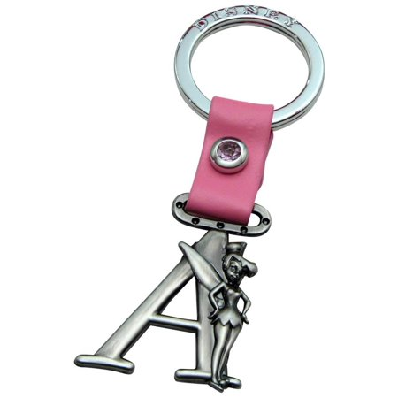 14k Keychain (Tinker Bell Letter A Pewter Key)