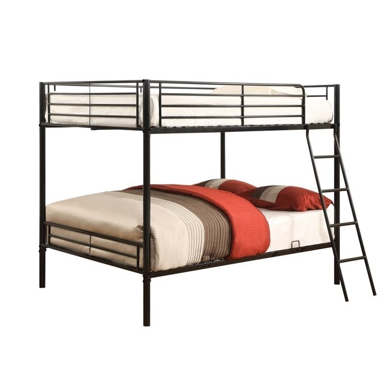 Coaster Furniture 400033f Metal Full Over Full Bunk Bed Black Finish
