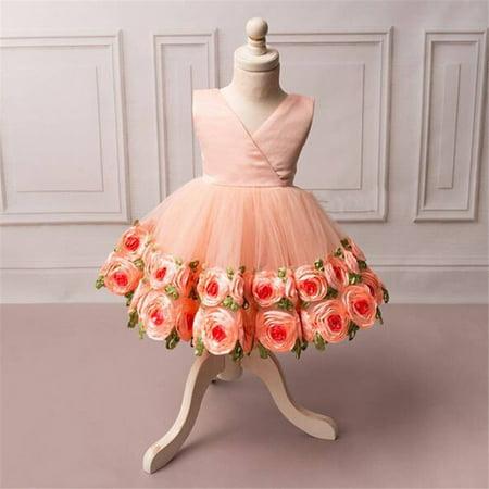 Girls Flower Lace Dress Bridesmaid Party Ball Prom Wedding Princess Dress 2-3 Years](Flower Girl Flower Ball)