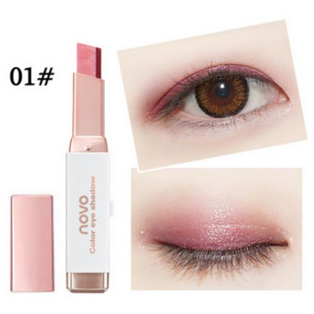 Double Color Stereo Gradient Velvet Shimmer Eyeshadow Stick Earth Color Eye Shadow Cream Pen New Makeup Palette Cosmetics Creme Eye Shadow Pen
