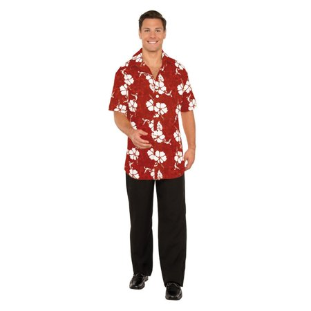 Halloween Button Front Hawaiian Shirt](Fantasy Island Halloween)