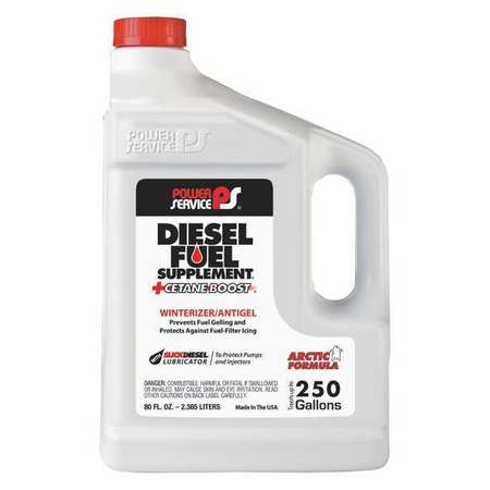 POWER SERVICE PRODUCTS 1080-06 Diesel Fuel Supplement,Amber,80 oz. G5573237