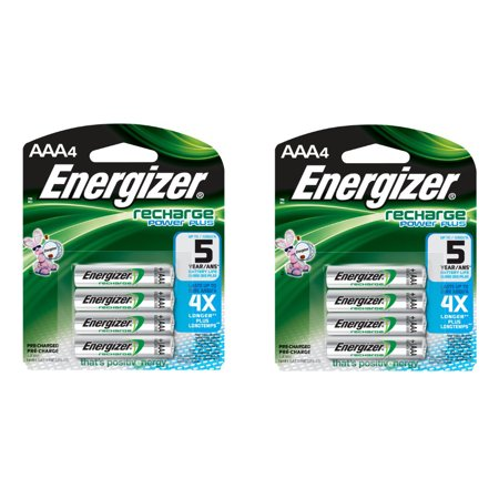 Energizer AAA Rechargeable Batteries 4 Pack, 2 Count = 8 Batteries Energizer AAA Rechargeable Batteries 4 Pack, 2 Count = 8 Batteries