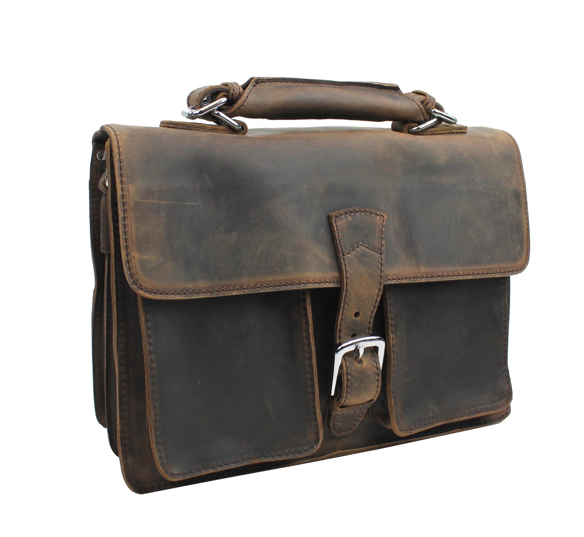 144e2cd466e1 Vagabond Traveler - Vagabond Traveler Medium Leather Briefcase L39 ...
