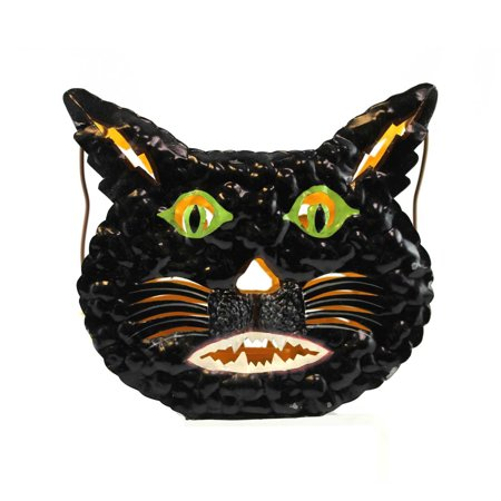 Halloween BLACK CAT CANDLE HOLDER Metal Tea Light Votive 6957 - This Is Halloween Metal Tab