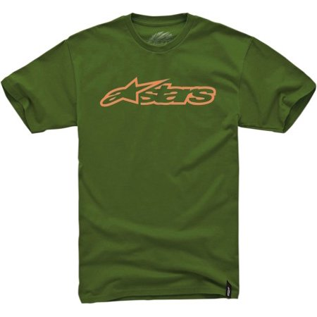 Alpinestars Blaze 2016 Mens Short Sleeve T-Shirt Green/Orange thumbnail