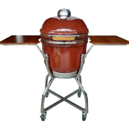 Hanover Ceramic Kamado Grill With Stainless Steel Cart