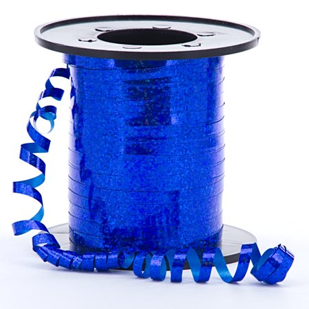 Add Ribbons (Royal Blue Sparkle and Shiney Holographic Decorative Curling Ribbon, 219 yards)